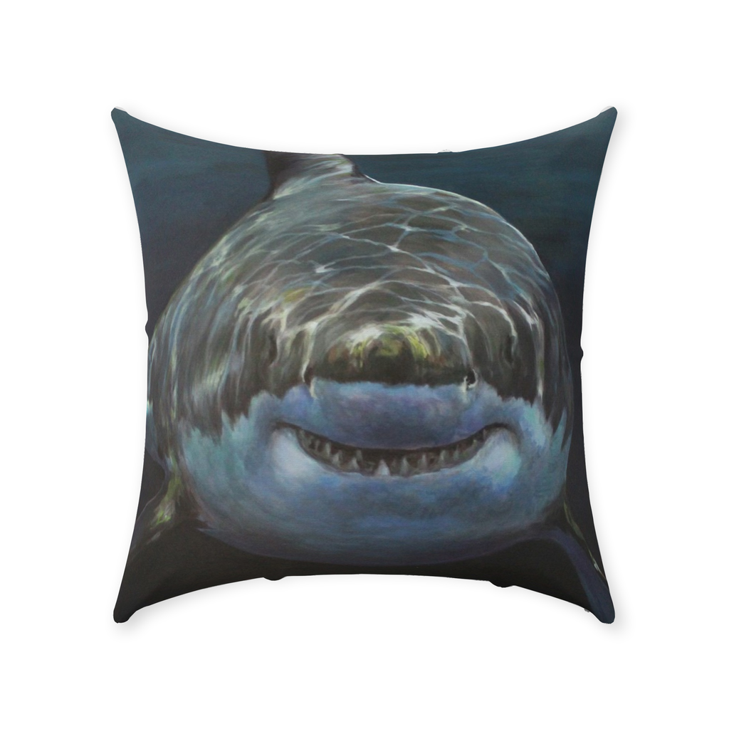 Mary Lee The Great White Shark Throw Pillows