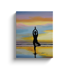 Load image into Gallery viewer, Yoga Sunset Image Wrap Canvas
