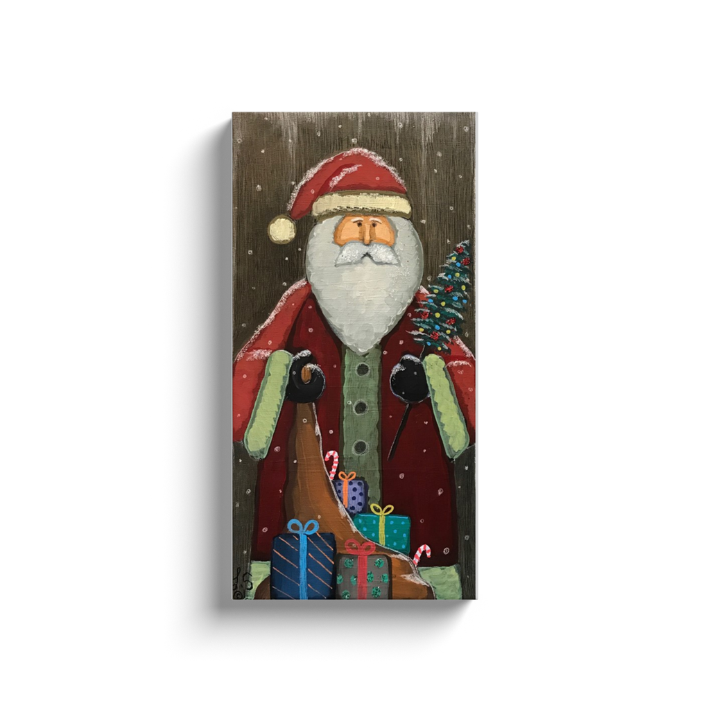 Vintage Santa 1 Canvas Wraps