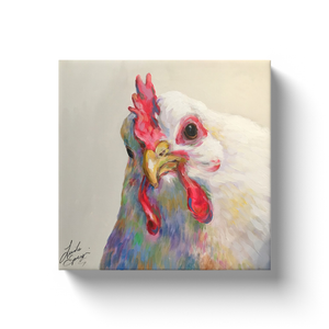 Agnes the Chicken Canvas Wraps