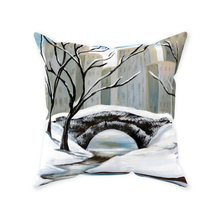 Load image into Gallery viewer, Winter In Central Park Throw Pillows