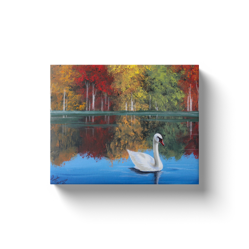 Fall at The Lake Canvas Wraps
