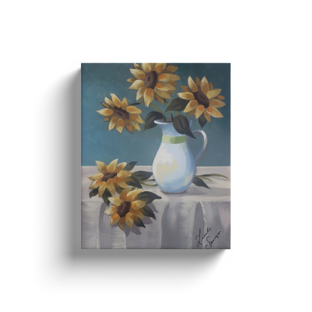 Sunflower Still Life Canvas Wraps