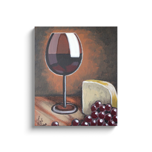 Wine and Cheese Canvas Wraps