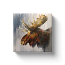 Load image into Gallery viewer, Samuel the Moose Canvas Wraps