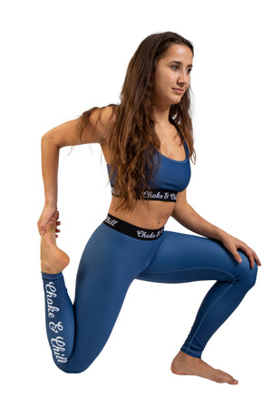 choke&chill Sports bra blue fightwear training athlete fighter Streetwear BJJ No-Gi Grappling Brazilian Jiu Jitsu MMA Kampfsport Martial Arts