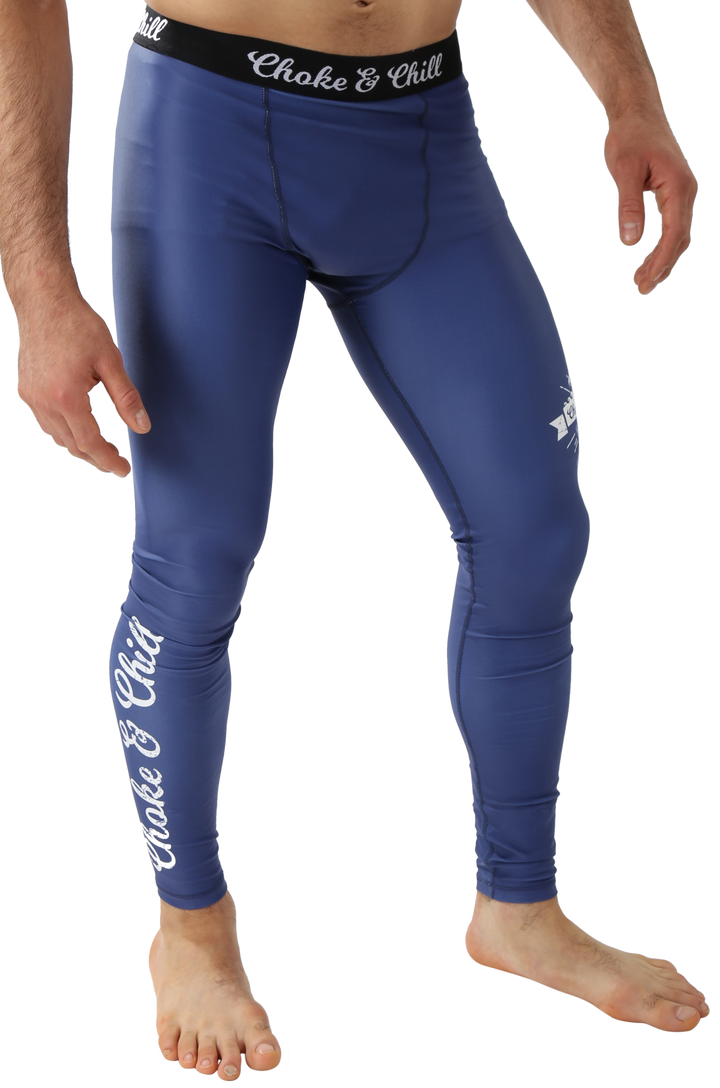 men spats leggins ocean blue ventura matching rash guard available bjj brazilian jiu jitsu no gi grappling mma luta livre choke and chill