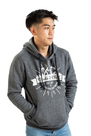 Hoodie Grey Pocket Streetwear BJJ No-Gi Grappling Brazilian Jiu Jitsu MMA Kampfsport Martial Arts