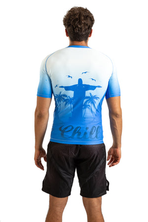 Choke&Chill Competition Rashguard - Blue - Short Sleeve