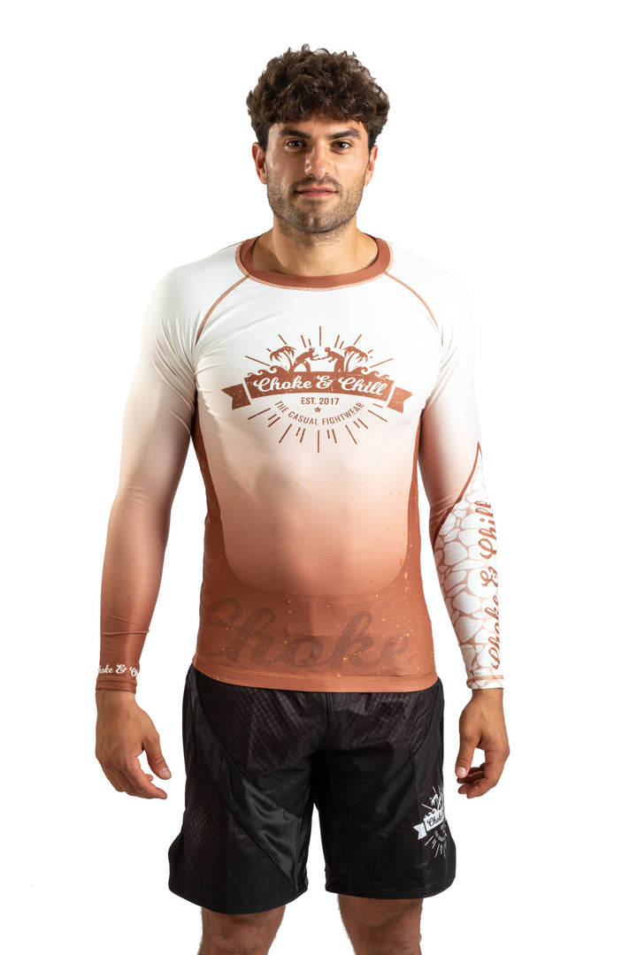 Choke&Chill Competition Rashguard - Brown - Long Sleeve