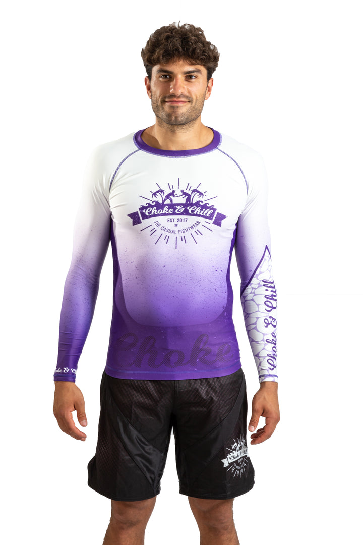Choke&Chill Competition Rashguard - Purple - Long Sleeve