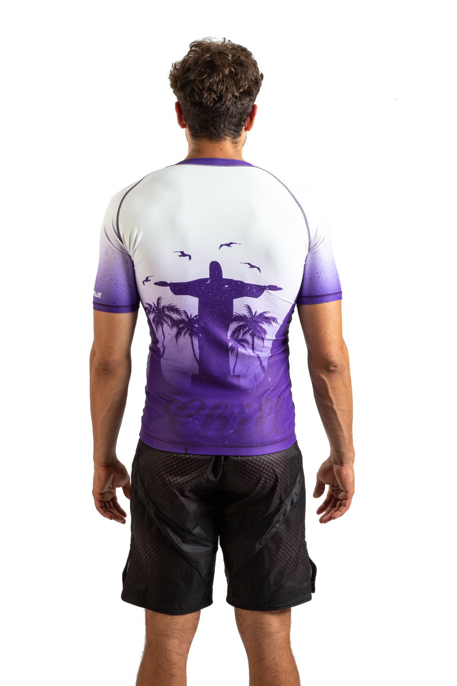Choke&Chill Competition Rashguard - Purple - Short Sleeve