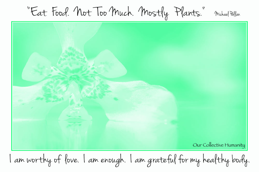 Eat Food. Not Too Much. Mostly Plants. Michael Pollan - I Am Grateful For My Healthy Body