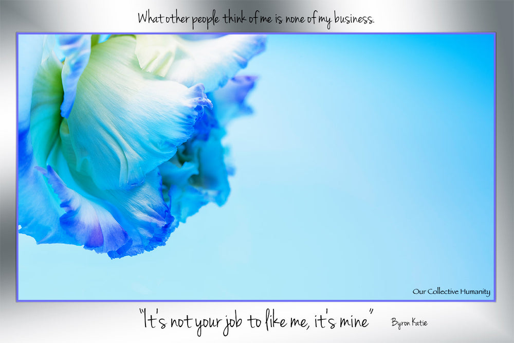 It's Not Your Job To Like Me. It's Mine. Byron Katie