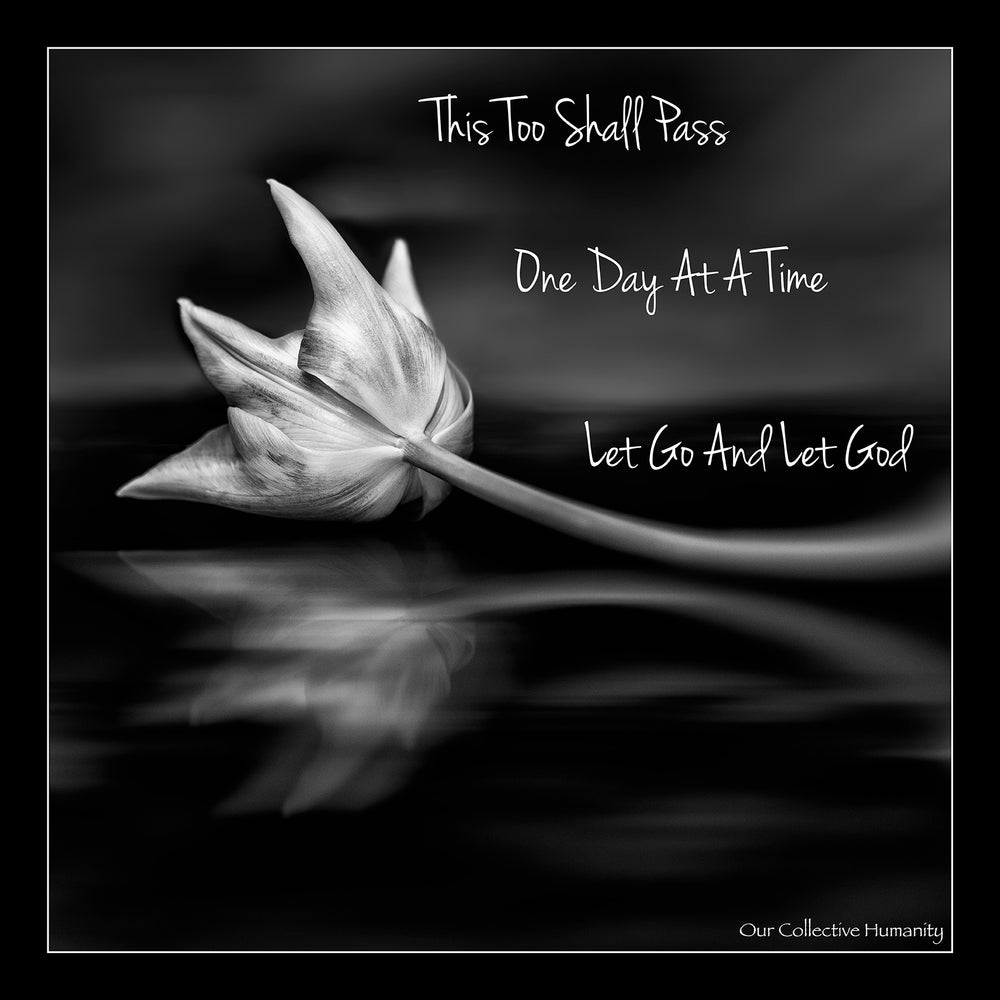 One Day At A Time - This Too Shall Pass - Let Go And Let God