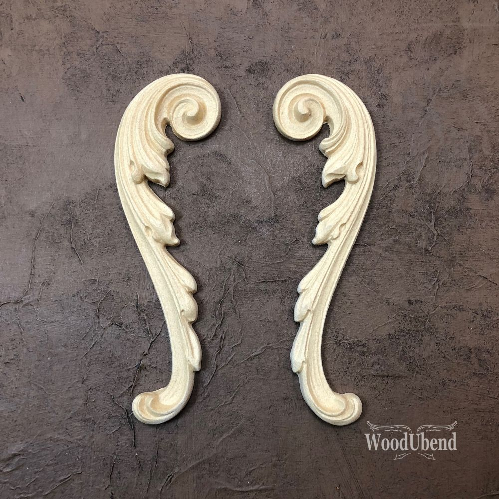WoodUbend Moulding - Decorative Scrolls WUB1723 (pair)