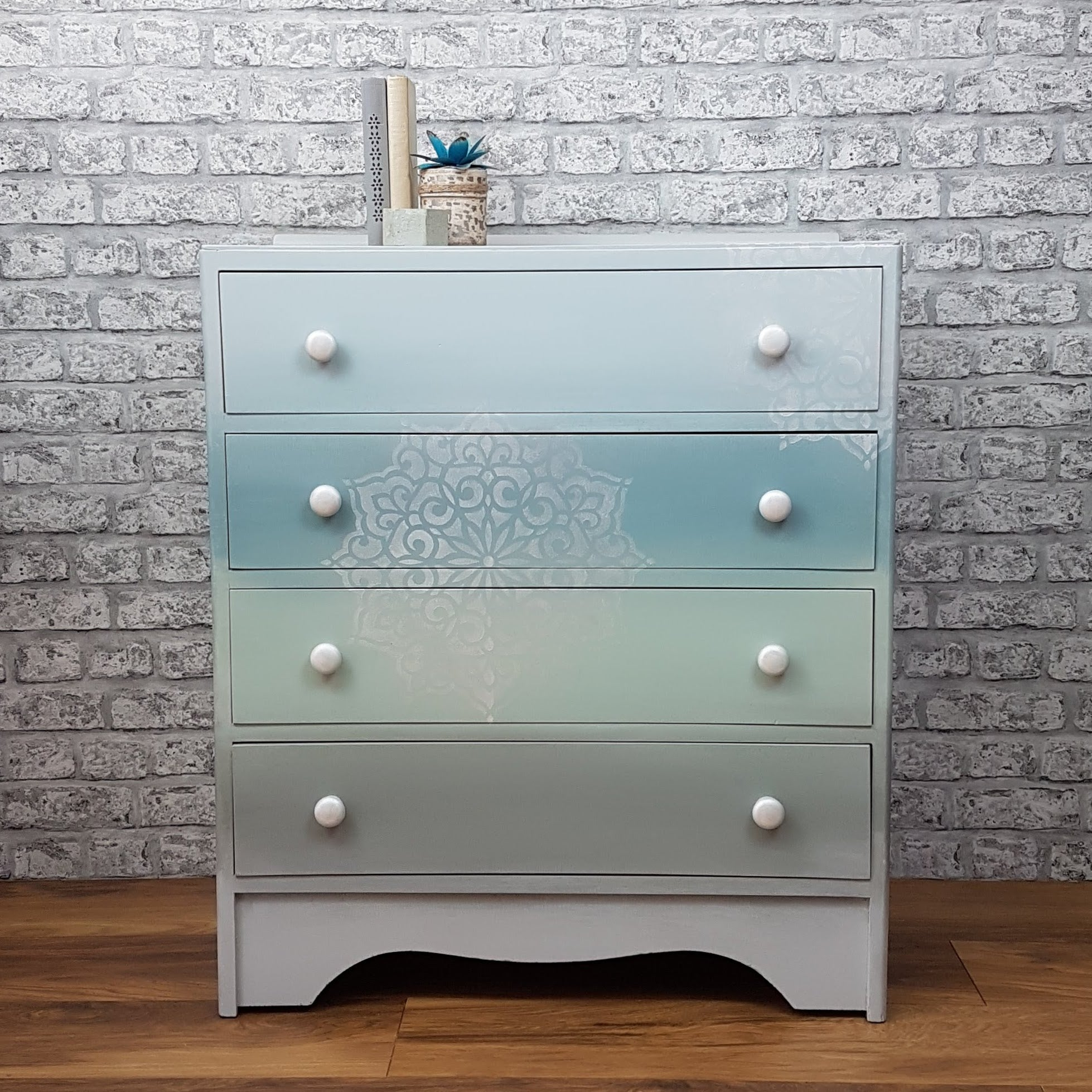 Professionally Hand Painted Chest of Drawers