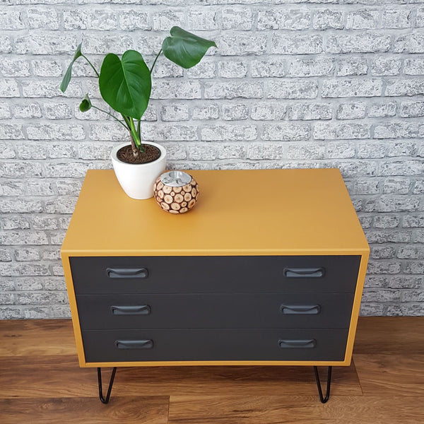 Spray Painted GPlan Drawer Unit