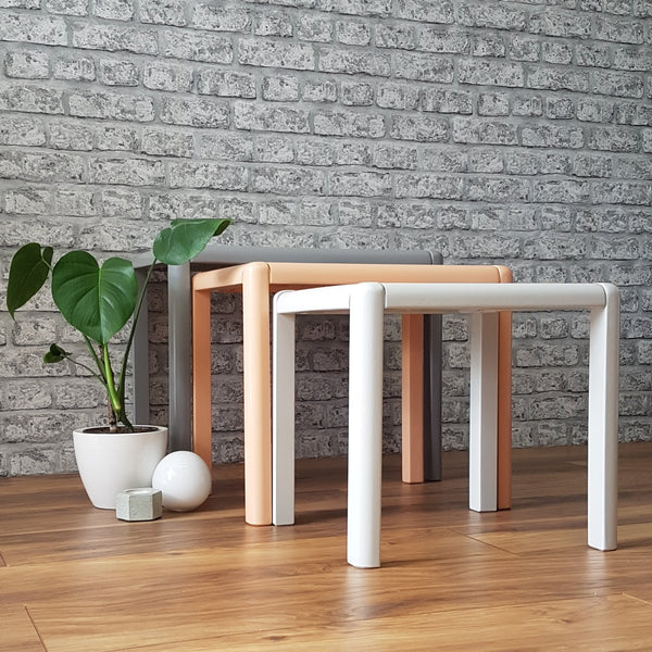 Professionally Restyled Retro Nest of Tables