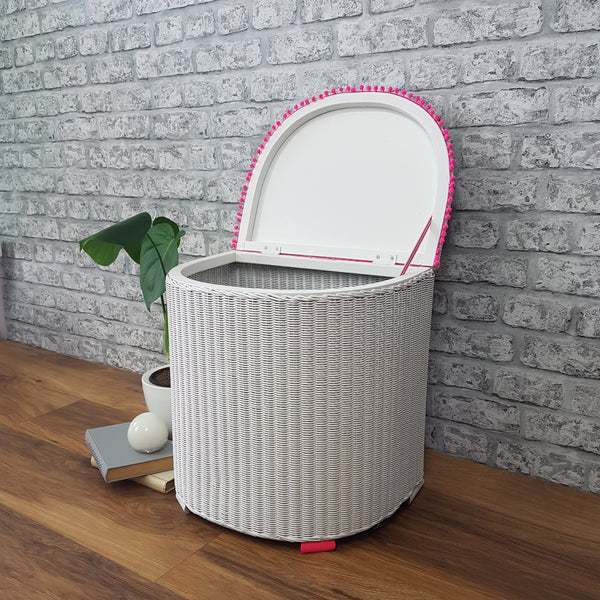 Professionally Restyled Lloyd Loom Laundry Basket