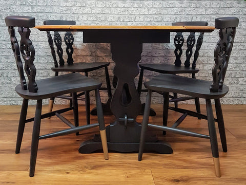 Professionally Restyled Mid Century Dining Table and Chairs