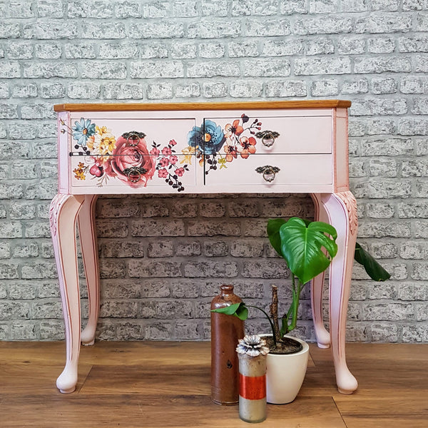 Professionally Restyled Vintage Console Table