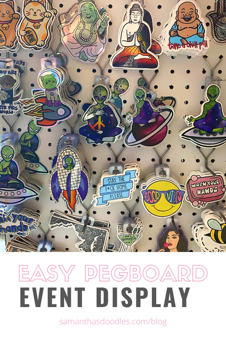 Easy DIY Pegboard Display for Craft Shows & Vendor Fairs