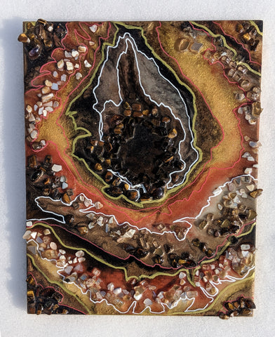 """amber colored """"ember"""" geode - for sale!"""