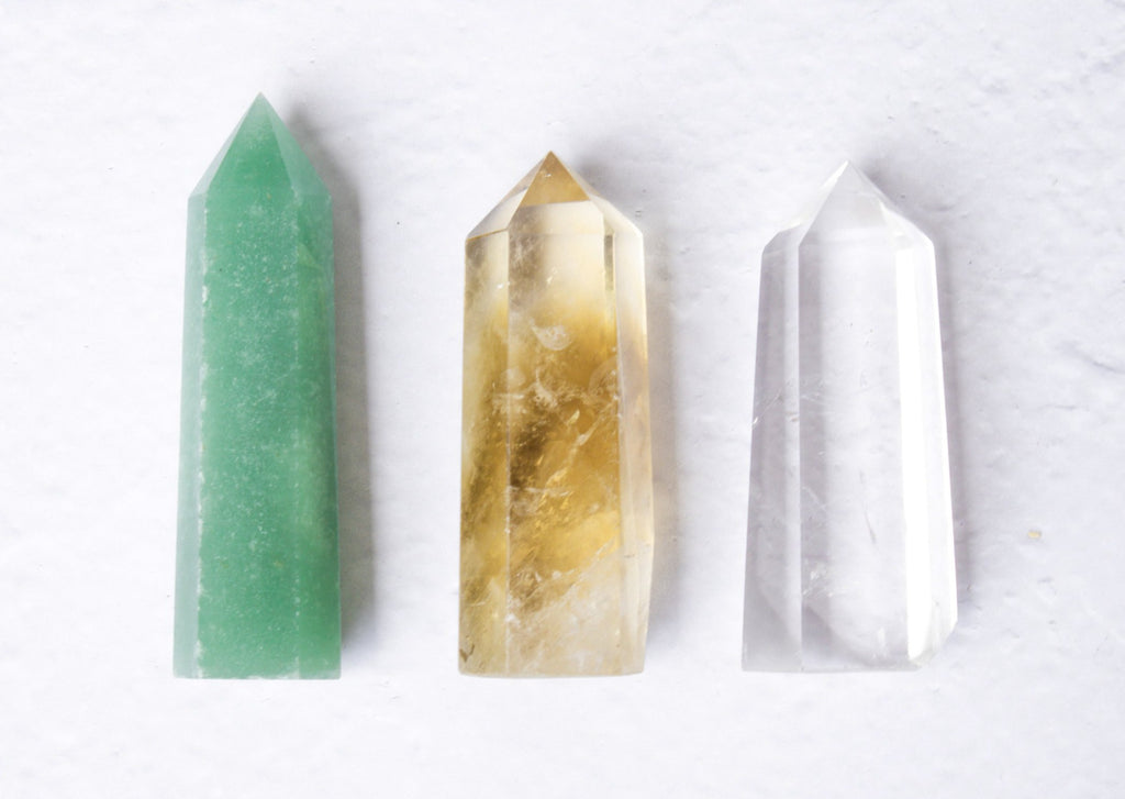 Points Bundle ♢ ABUNDANCE ♢ Citrine, Green Aventurine, Clear Quartz