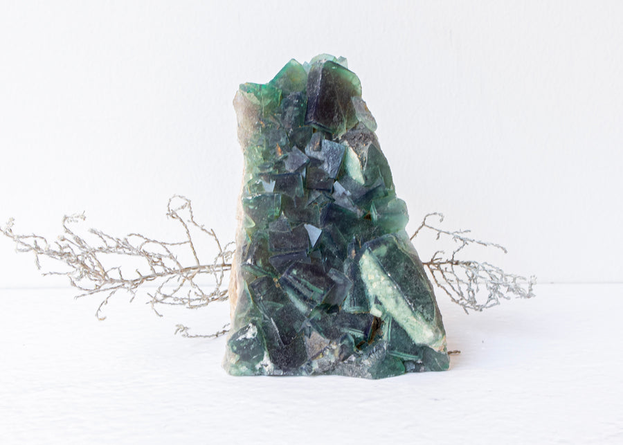 Green Fluorite Cluster ♢ Large