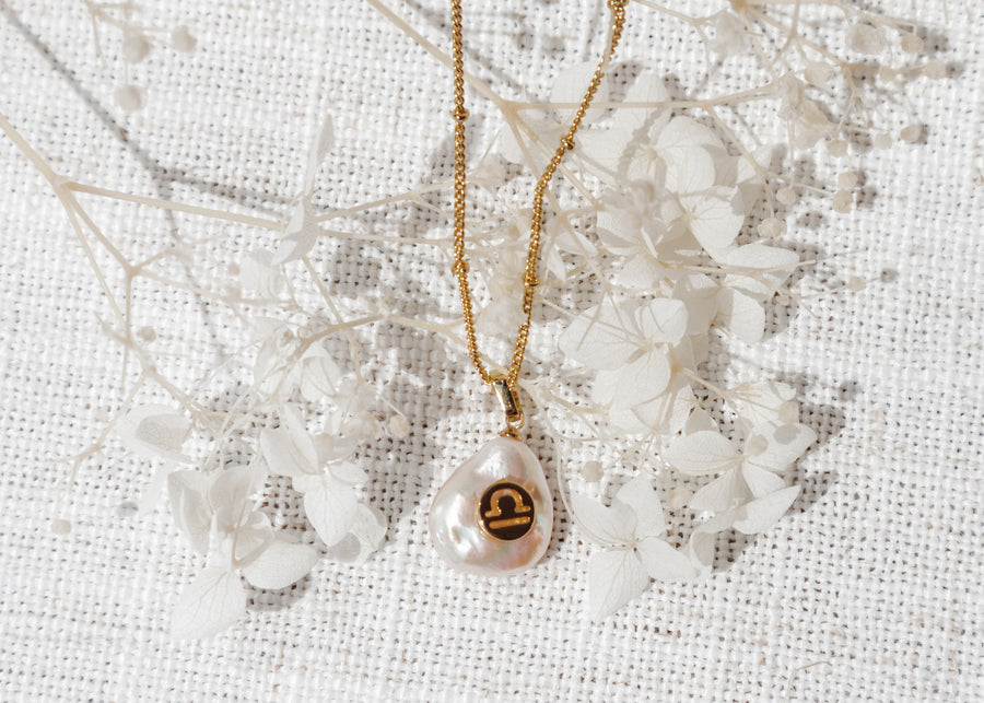 Zodiac Pearl Drop Necklace