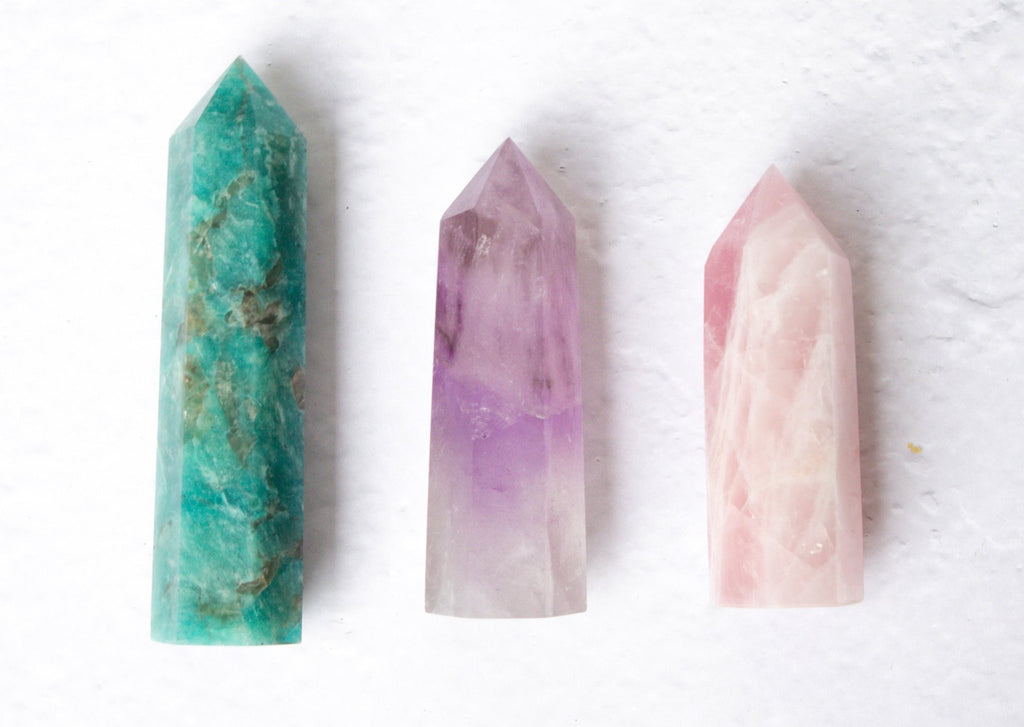 Points Bundle ♢ LOVE ♢ Rose Quartz, Amazonite, Amethyst