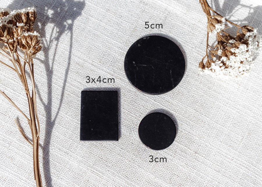 Shungite Phone Plate ♢ Circle 3cm