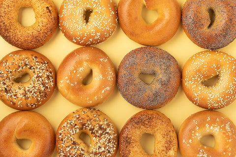12 x Papo's full bagel selection (2 of each bagel)