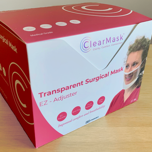 ClearMask box - medical, FDA-cleared