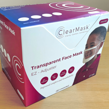 Load image into Gallery viewer, <strong>ClearMask™</strong> Transparent Face Mask - Box (24 Masks) | Kids