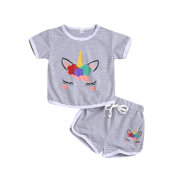 2-Piece Unicorn Stripe Set