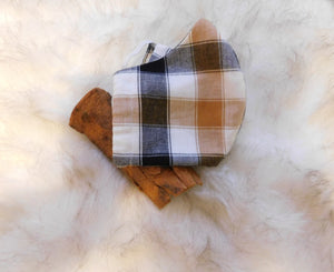 Cinnamon Plaid Mask