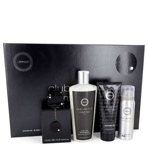 Armaf Club De Nuit Intense Gift Sets - Eau De Toilette Spray + 1.7 oz Body Spray + 3.4 oz Shower Gel + 8.4 oz Shampoo with Conditioner