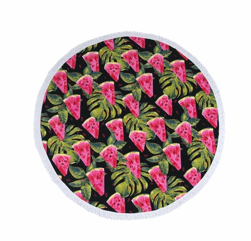 Load image into Gallery viewer, Isla Watermelon Round Beach Towel