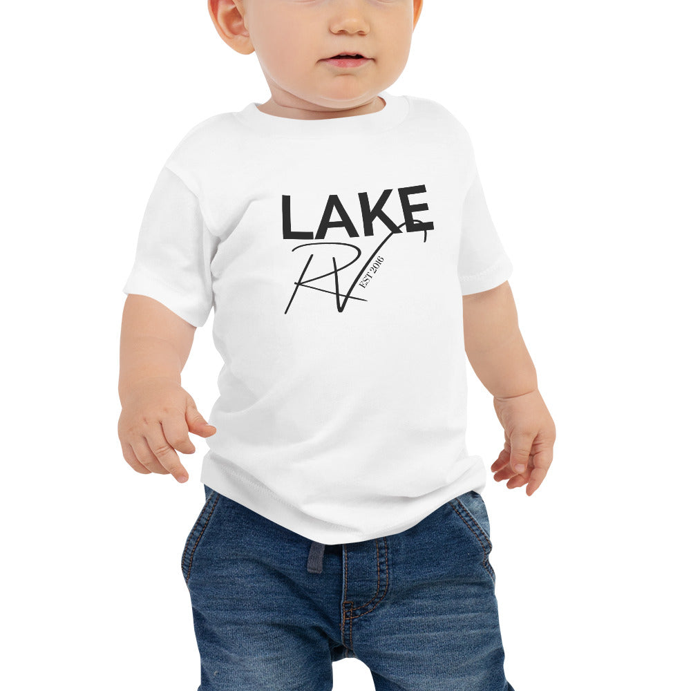 Load image into Gallery viewer, Black Logo Baby Short Sleeve Tee