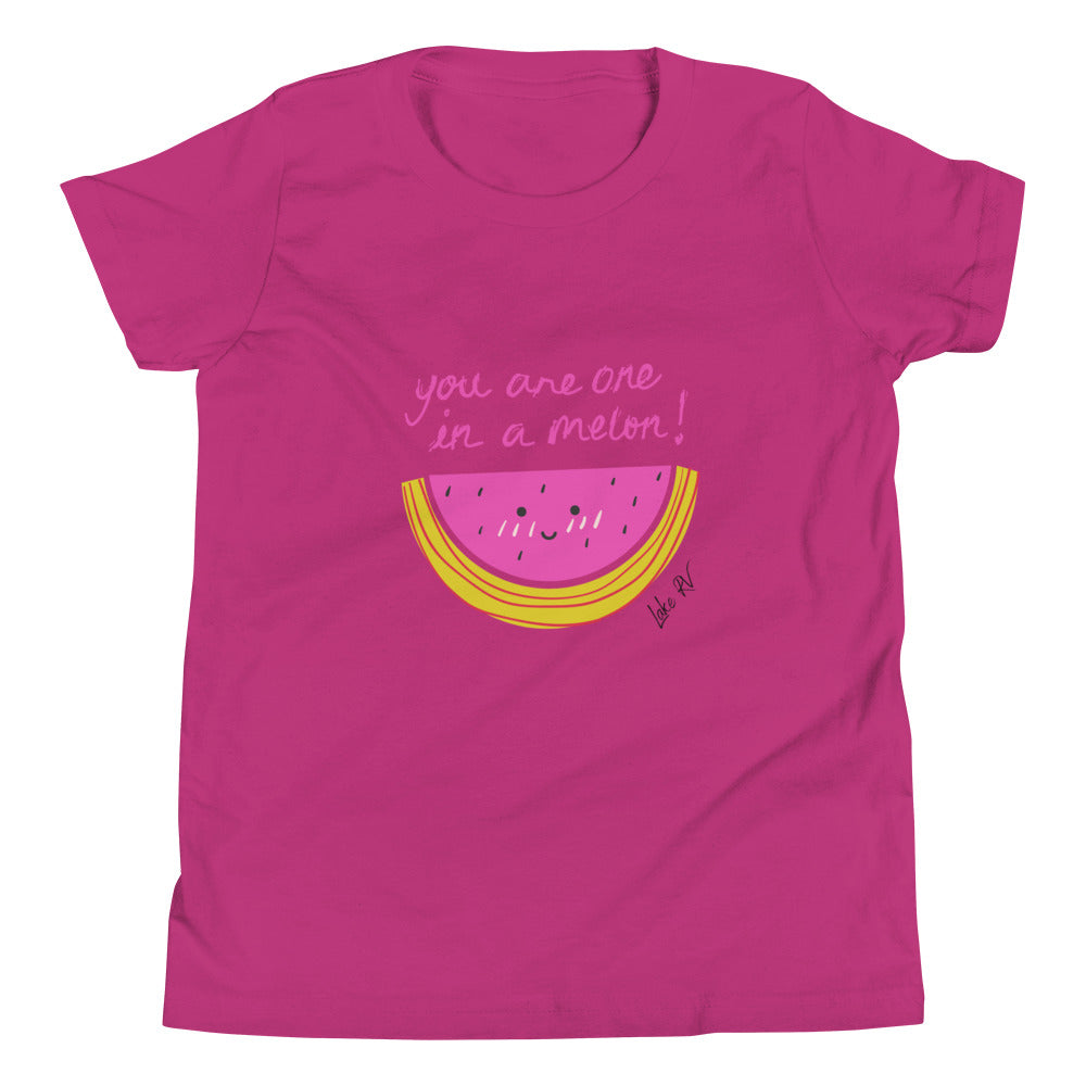 One in a Melon Girls Youth Short Sleeve Tee