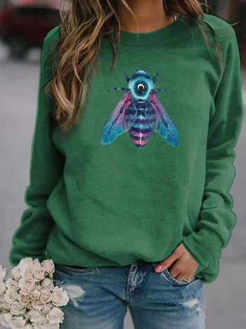Load image into Gallery viewer, Women's Color Bee Print Sweatshirt