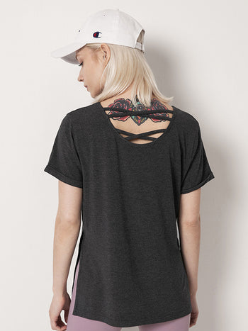 Load image into Gallery viewer, Crisscross Short Sleeve Sports Tee