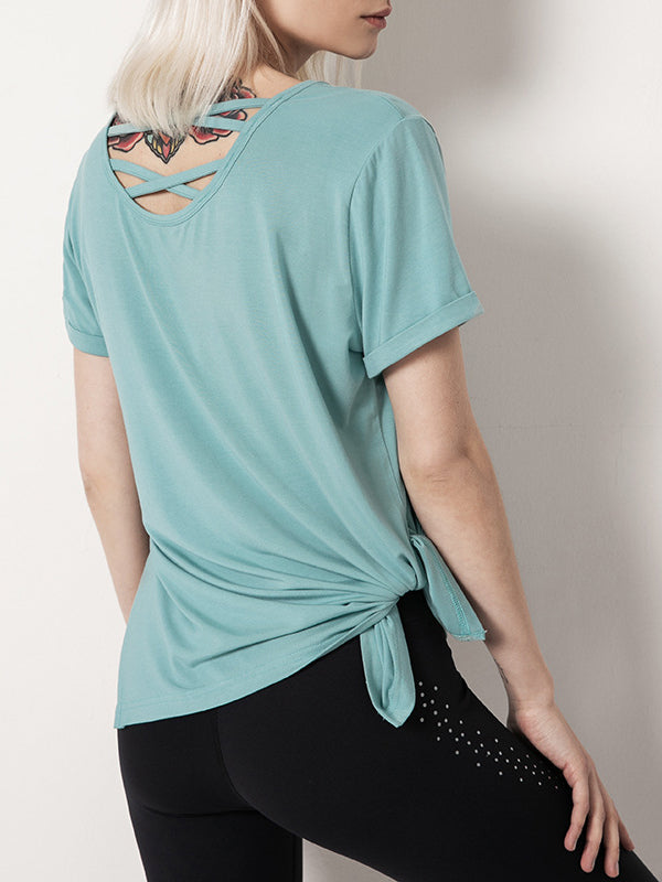 Crisscross Short Sleeve Sports Tee