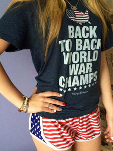Women's American Flag Panel Shorts