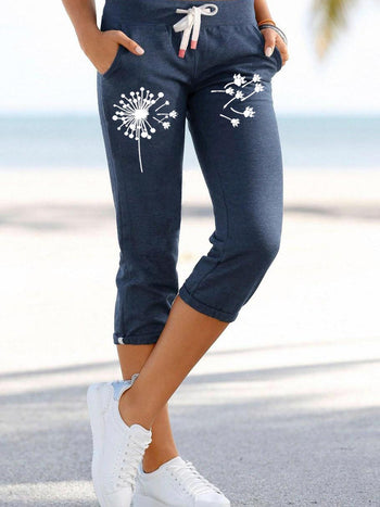 Load image into Gallery viewer, Women's Dandelion Dog Paw Print Lace Sweatpants