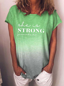 She is Strong Christian Tie Dye T-shirt