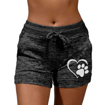 Load image into Gallery viewer, Heart-shaped Print Activewear Drawstring Lounge Shorts