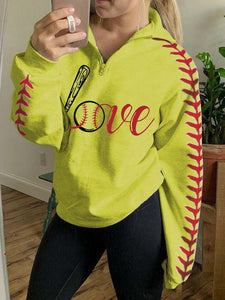 Love Baseball Zipper
